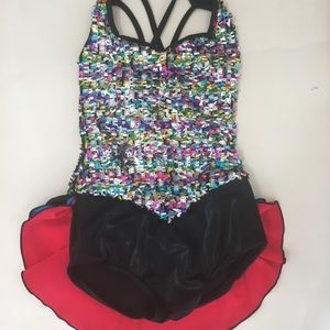 Dance costume by Curtain Call. Girls Sz. Small.EUC